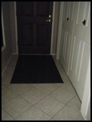 Walk-off carpet at entry