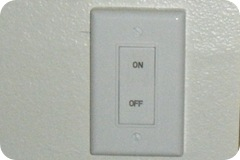 Rocker style light switch is easier to turn on and off as we age.