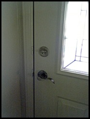 Lever style door handle for aging in place ease