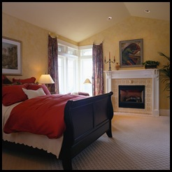 bedroom w sleighbed