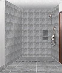 Linear Drain Shower Design