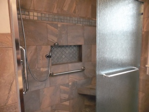 Custom tub to shower conversion